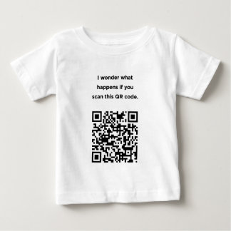 Useless QR Code: I Wonder... Baby T-Shirt