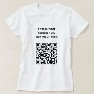 Useless QR Code: I Wonder... Shirt