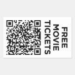 Useless QR Code: Tickets Rectangular Sticker