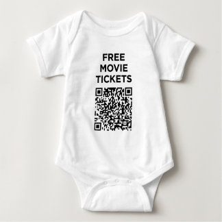 Useless QR Codes: Movie Tickets Baby Bodysuit