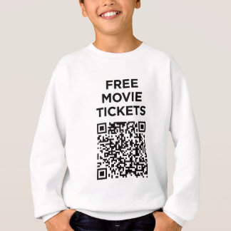 Useless QR Codes: Movie Tickets Sweatshirt