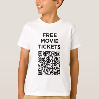 Useless QR Codes: Movie Tickets T-Shirt