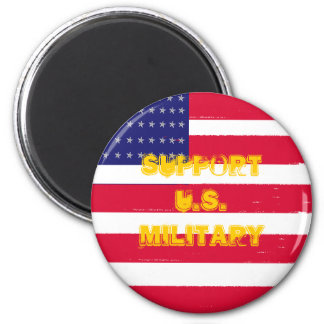 usflag, Support U.S.Military 2 Inch Round Magnet
