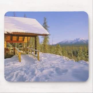 USFS Schnauss Cabin rental in Winter ovelooking Mouse Pad