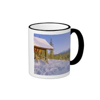 USFS Schnauss Cabin rental in Winter ovelooking Coffee Mug