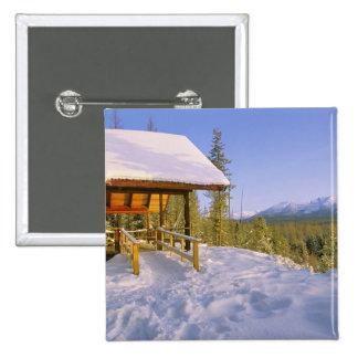USFS Schnauss Cabin rental in Winter ovelooking Pinback Button