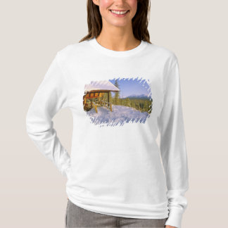 USFS Schnauss Cabin rental in Winter ovelooking T-Shirt