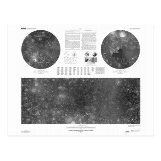 USGS Map of Jupiter Moon Callisto Postcard