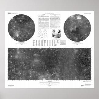 USGS Map of Jupiter Moon Callisto Poster