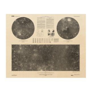 USGS Map of Jupiter Moon Callisto Wood Wall Decor