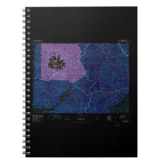 USGS Topo Map Washington State WA Mount Rainier 24 Spiral Notebook
