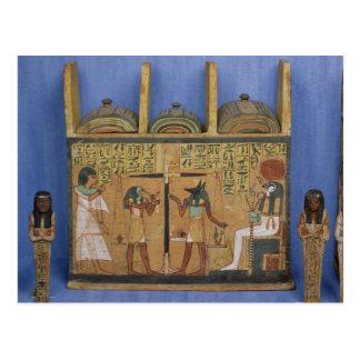 Ushabti casket with a scene of psychostasis postcard