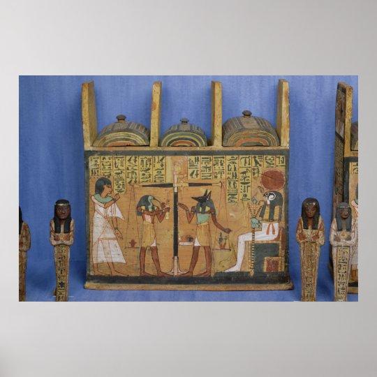 Ushabti casket with a scene of psychostasis poster