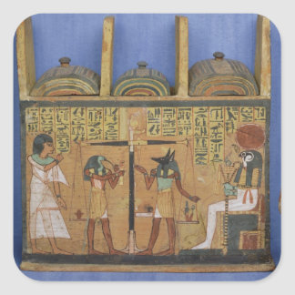 Ushabti casket with a scene of psychostasis square sticker