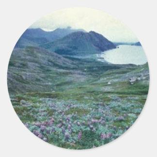 Ushagat Island in the Barren Islands Round Stickers