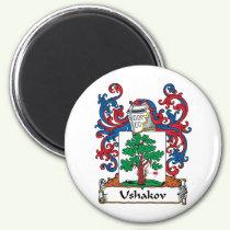 Ushakov Family Crest Magnet