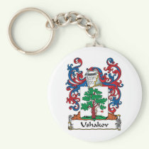 Ushakov Family Crest Keychain