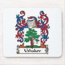 Ushakov Family Crest Mousepad