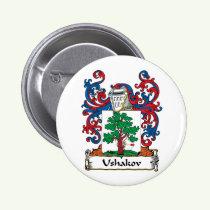 Ushakov Family Crest Button