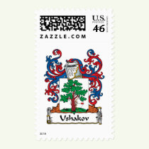 Ushakov Family Crest Stamps
