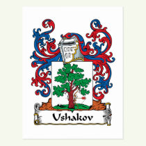 Ushakov Family Crest Postcard
