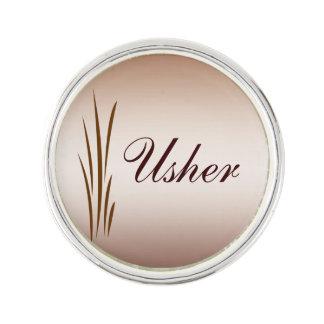Usher Autumn Harvest Wedding Lapel Pin