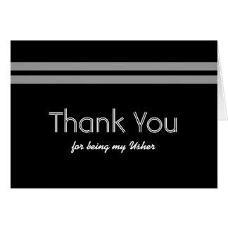 USHER Bold Stripe Wedding THANK YOU Greeting Card