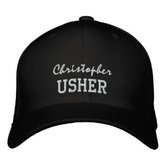 USHER Custom Name V005 Embroidered Baseball Hat