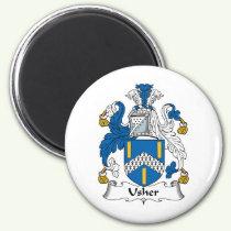 Usher Family Crest Magnet