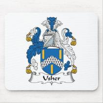 Usher Family Crest Mousepad