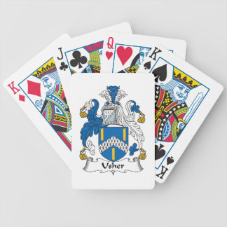 Usher Family Crest Playing Cards