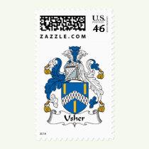Usher Family Crest Stamps