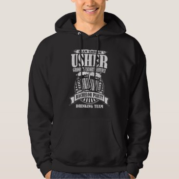 Wedding Themed Usher Groom's Escort Service Bachelor Party Hoodie