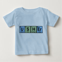 Baby Fine Jersey T-Shirt with Usher design