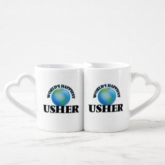 Usher más feliz del mundo tazas para parejas