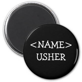 Usher Name Button 2 Inch Round Magnet