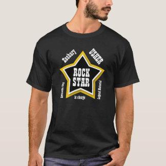 USHER Rock Star Big Star Custom Name BLACK V11 T-Shirt