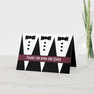 USHER Thank You - Three Tuxedos - Customizable