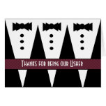 USHER Thank You - Three Tuxedos - Customizable Card
