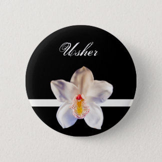Usher Wedding ID Badge Pinback Button