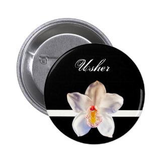 Usher Wedding ID Badge Pinback Button
