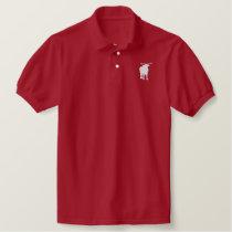 ushi embroidered polo shirt