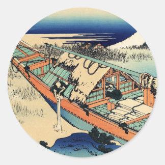 Ushibori in the Hitachi Provence Classic Round Sticker