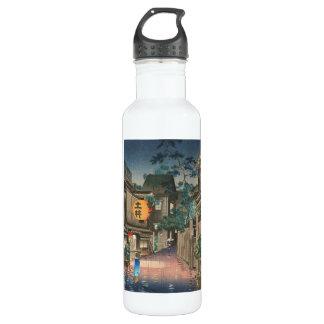 Ushigome Kagurazaka Tsuchiya Koitsu shin hanga Stainless Steel Water Bottle