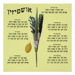 Ushpizin y Arba Minim (4 especies) Posters