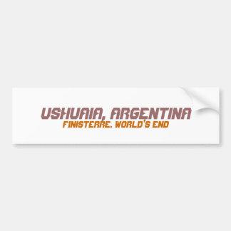 Ushuaia, Argentina. Finisterre. World's End Car Bumper Sticker