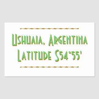 Ushuaia Argentina Latitude Rectangular Sticker