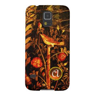 USIGNUOLO CON el MONOGRAMA de los ROSAS, amarillo  Funda De Galaxy S5