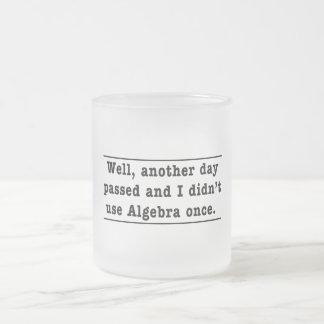 Using Algebra 10 Oz Frosted Glass Coffee Mug