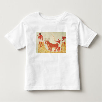 Using cows to trample wheat toddler t-shirt
